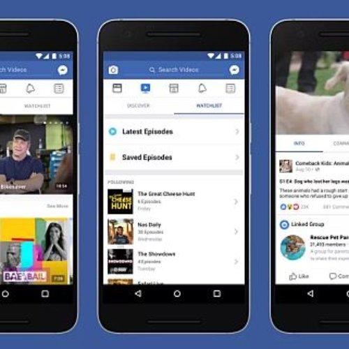 Presenta Facebook su nuevo Watch, para hacer vídeo streaming