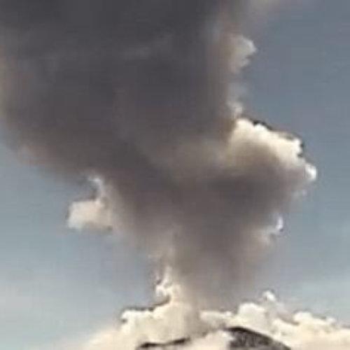Caída de ceniza por actividad del Popocatépetl