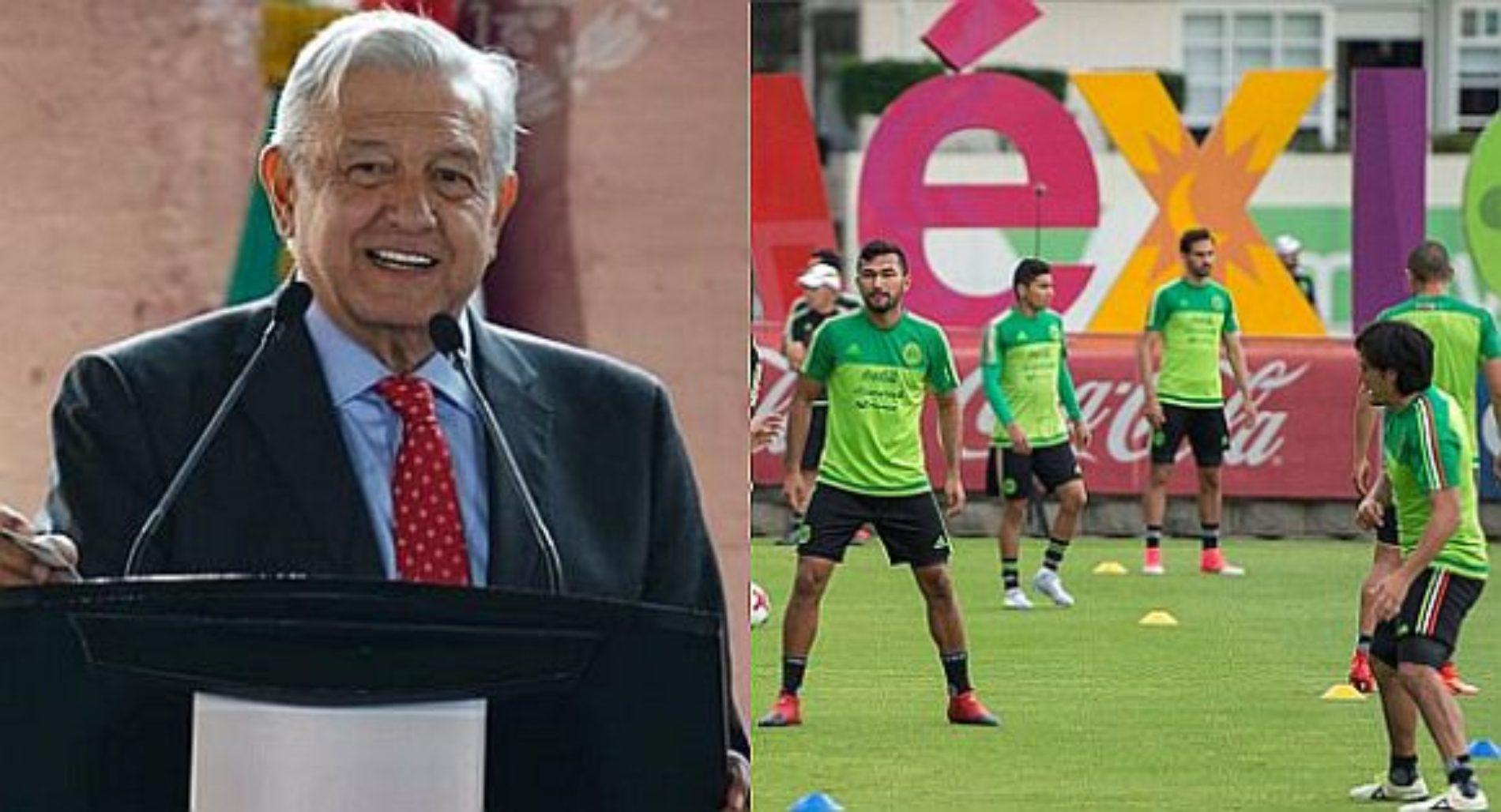 Cancela AMLO patrocinio de 34 millones de pesos a la Selección Nacional de Fútbol